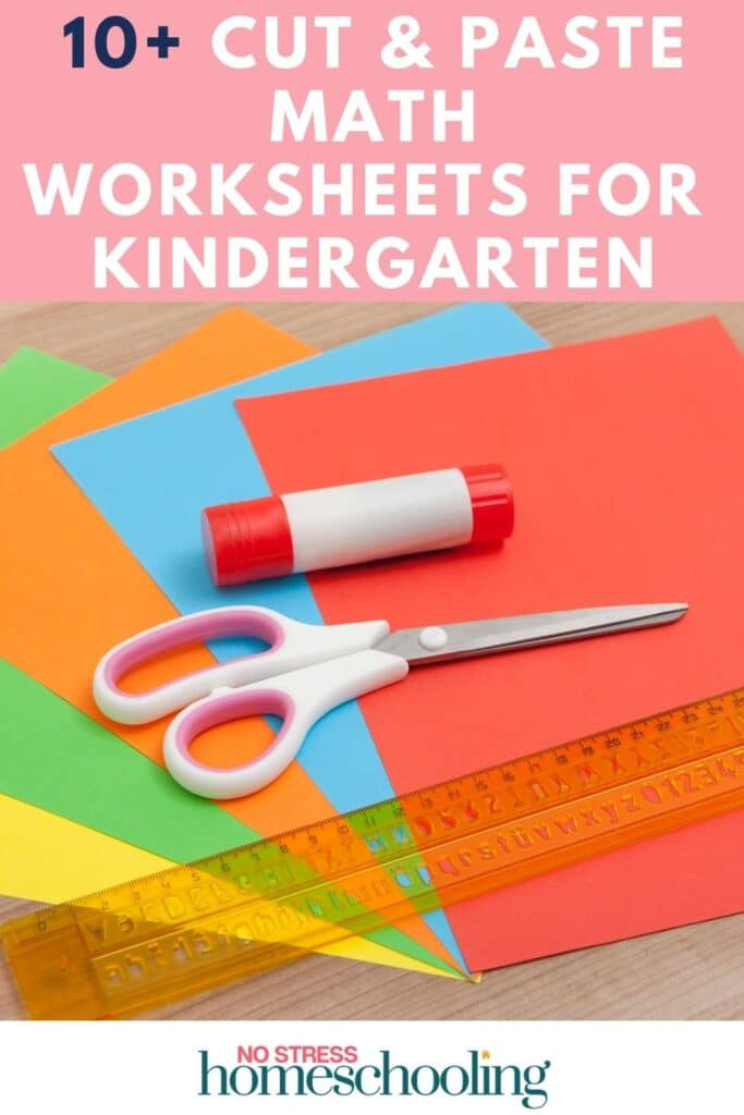 pics for 10+ CUT AND PASTE MATH WORKSHEETS FOR KINDERGARTEN