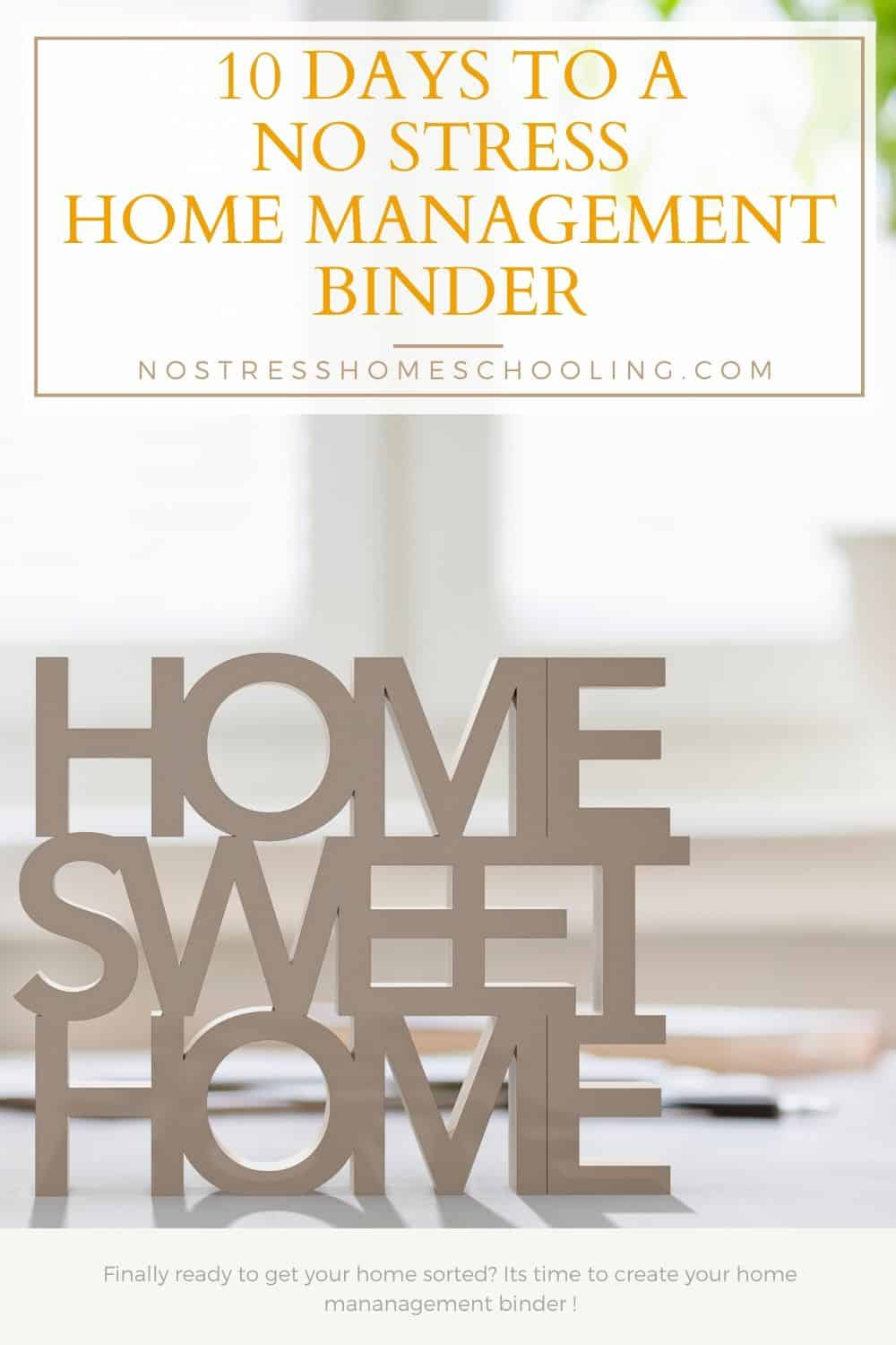 Ready to put together your custom home management binder? This free 10 day series will help you organize your household, finances, and more!