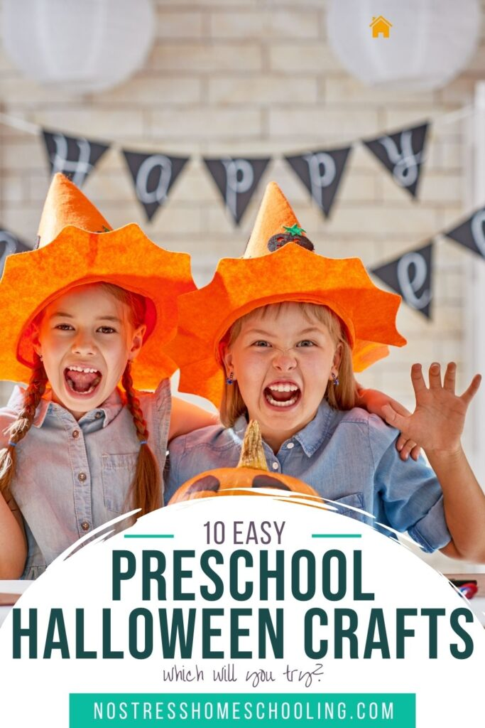 image for article that gives 10 easy preschool halloween crafts