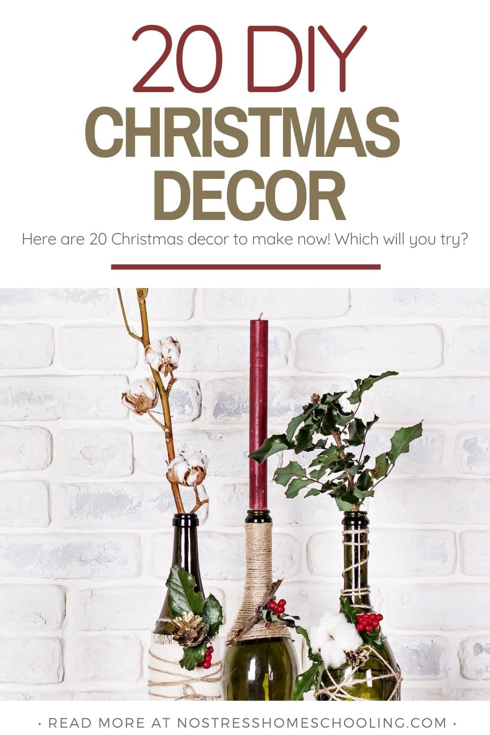 image showing 20 DIY CHRISTMAS DECOR