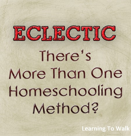 Eclectic- There's More Than One Homeschooling Method