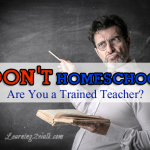 don't homeschool- are you a trained teacher?
