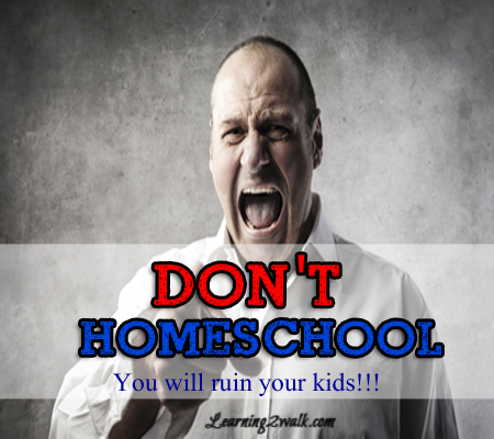 dont homeschool- you will ruin your kids