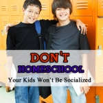 don't homeschool! Your kids wont be socialized