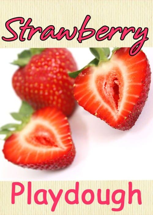 strawberry playdough: sensory activities for preschoolers
