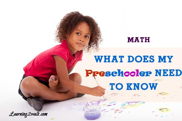 What does my preschooler need to know: math