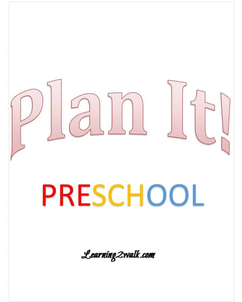 Plan It! Preschool