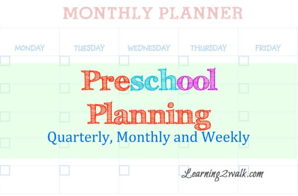 Preschool Planning for Mommies