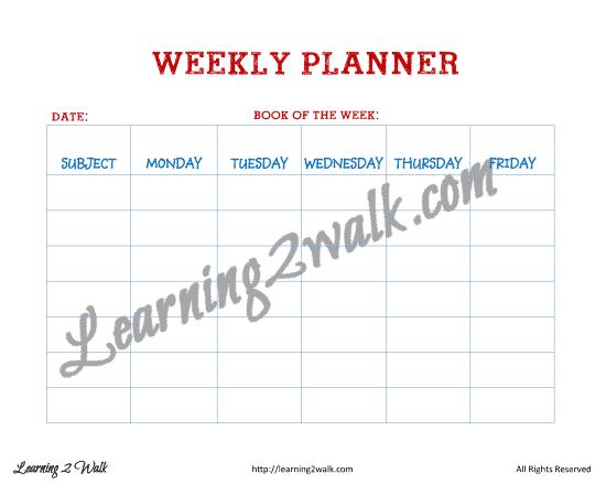 preschool planning- weekly
