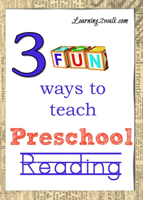 These fun games are sure to help your kids with their preschool reading at home. Just grab a few items that you probably have on hand and let the learning begin. #preschoolreading