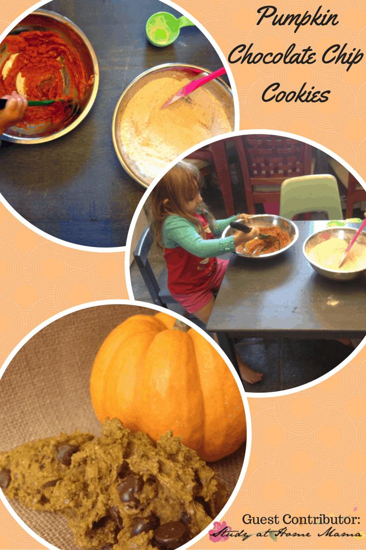 Fall activities for preschoolers: Pumpkin Chocolate Chip Cookies