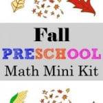 Fall Preschool Math