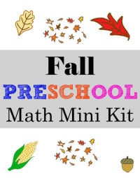 Fall Themed Preschool Math