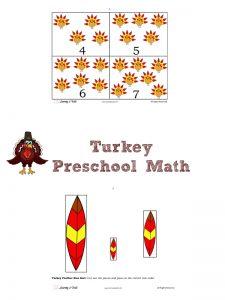 TurkeyThemed Preschool  Math