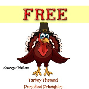 Turkey Themed Preschool Freebie
