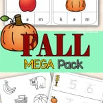 Looking for some fun fall activities for preschoolers or activities for kindergarten? Try the Fall Mega Pack!