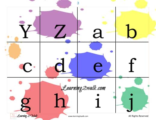 colours theme preschool reading sample of page