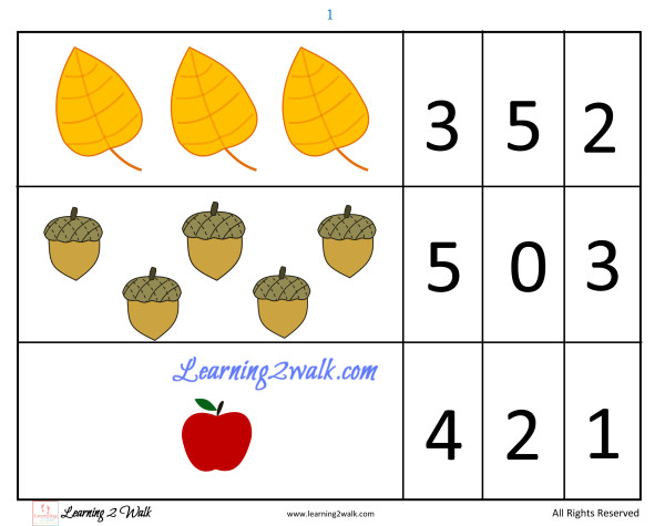 fall themed preschool math: counting