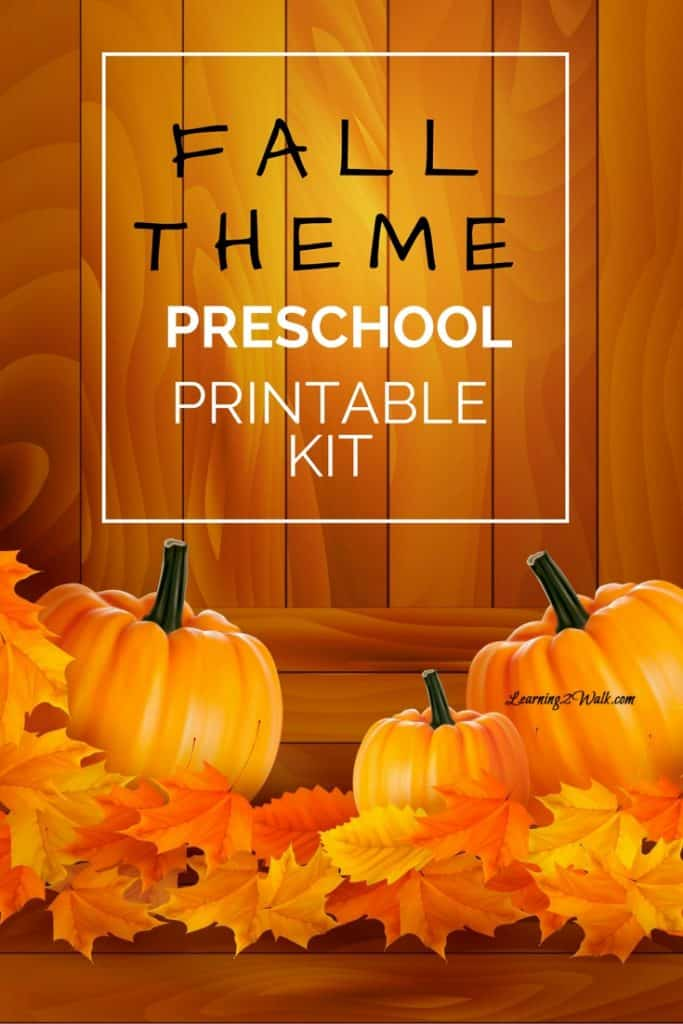 I love welcoming the cooler weather with a few fall theme preschool activities. This free preschool printable pack is sure to help your kids welcome fall