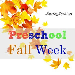 preschol reading fall week