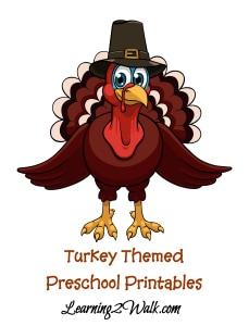 turkey themed preschool printable