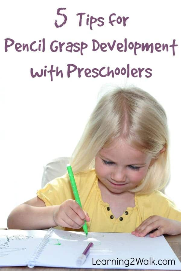 So you want to teach your preschooler how to write but have no clue where to start? What if you do it wrong? Here are 5 tips to help your preschoolers' pencil grasp development #pencilgraspdevelopment