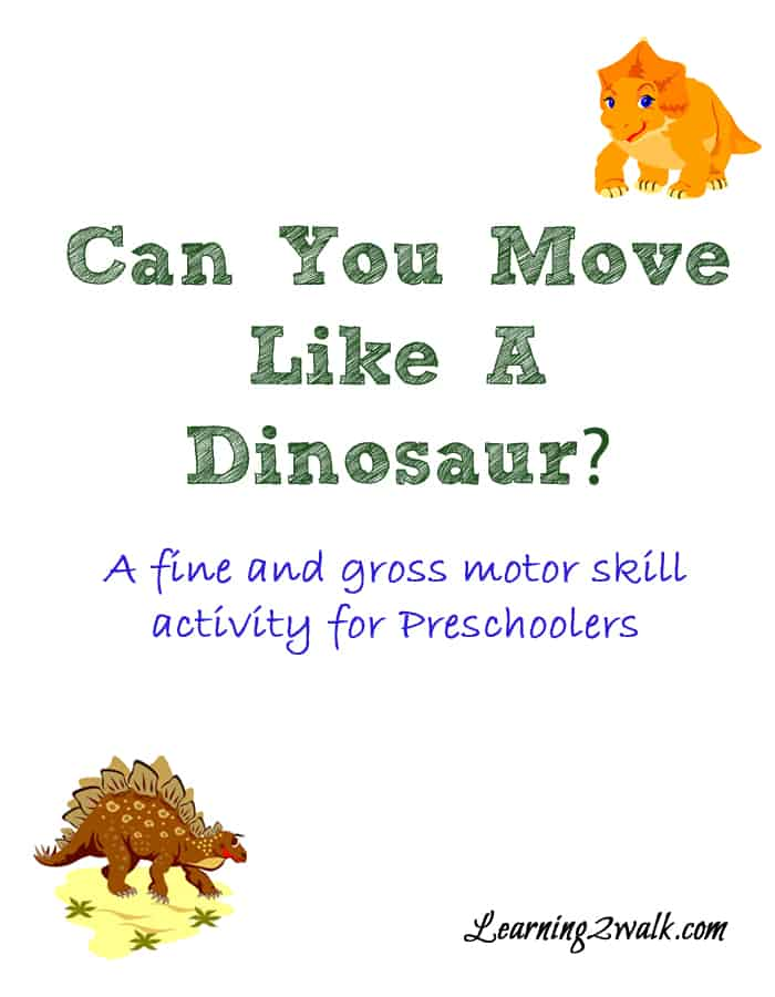 My daughter loves dinosaurs! Here are a few fun dinosaur indoor gross motor activities for preschoolers that yourkid is sure to love. #grossmotoractivities #dinosaurpreschooltheme #indoorgrossmotoractivities