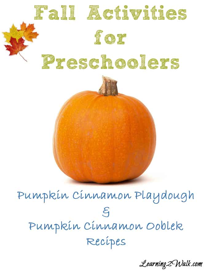 Pumpkin Cinnamon playdough and ooblek: Fall preschool sensory activities