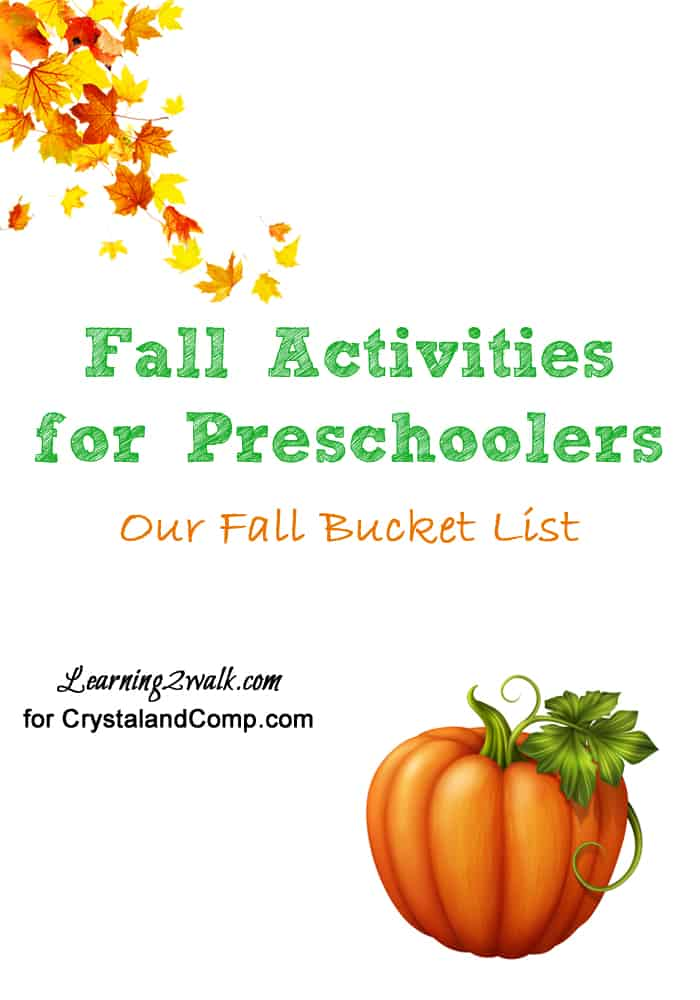 fall activities for preschoolers: our fall bucket list