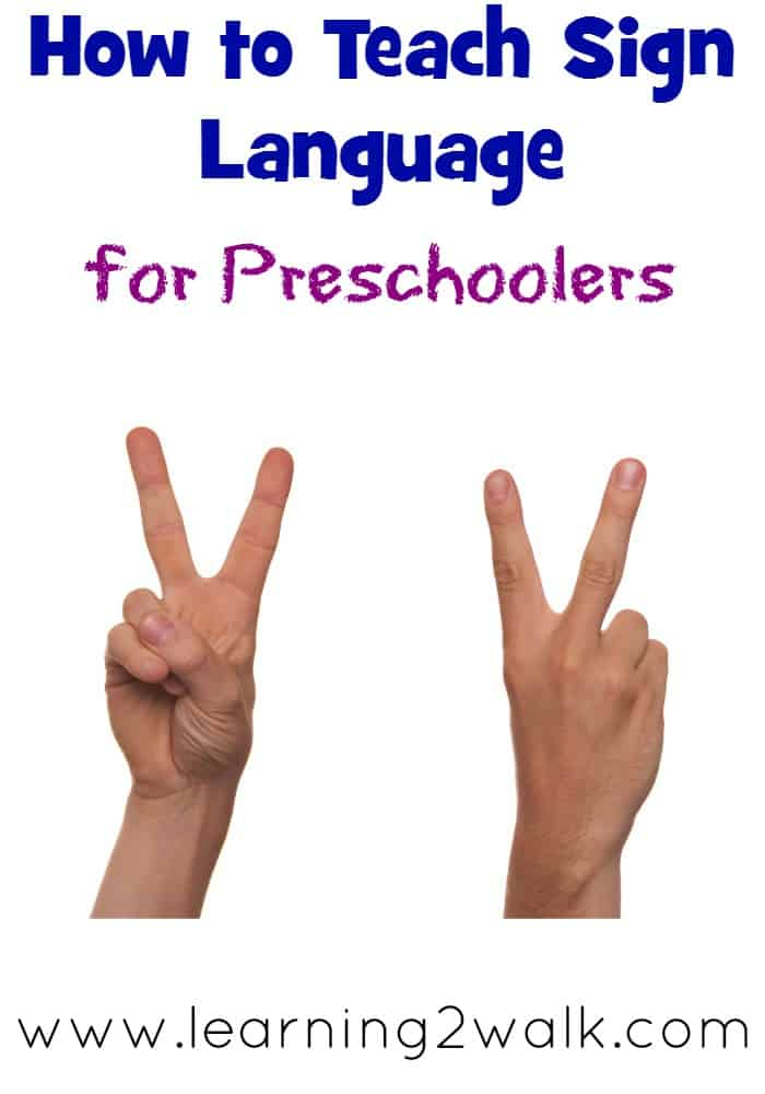 sign language for preschoolers
