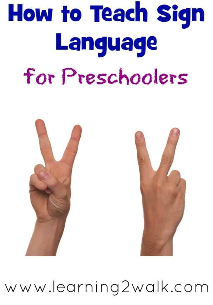 sign language for preschoolers