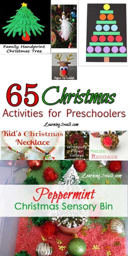 Trying to find a few easy Christmas activities for your preschoolers? Why not try a few of these: make a few ornaments, create a Christmas sensory bin and more
