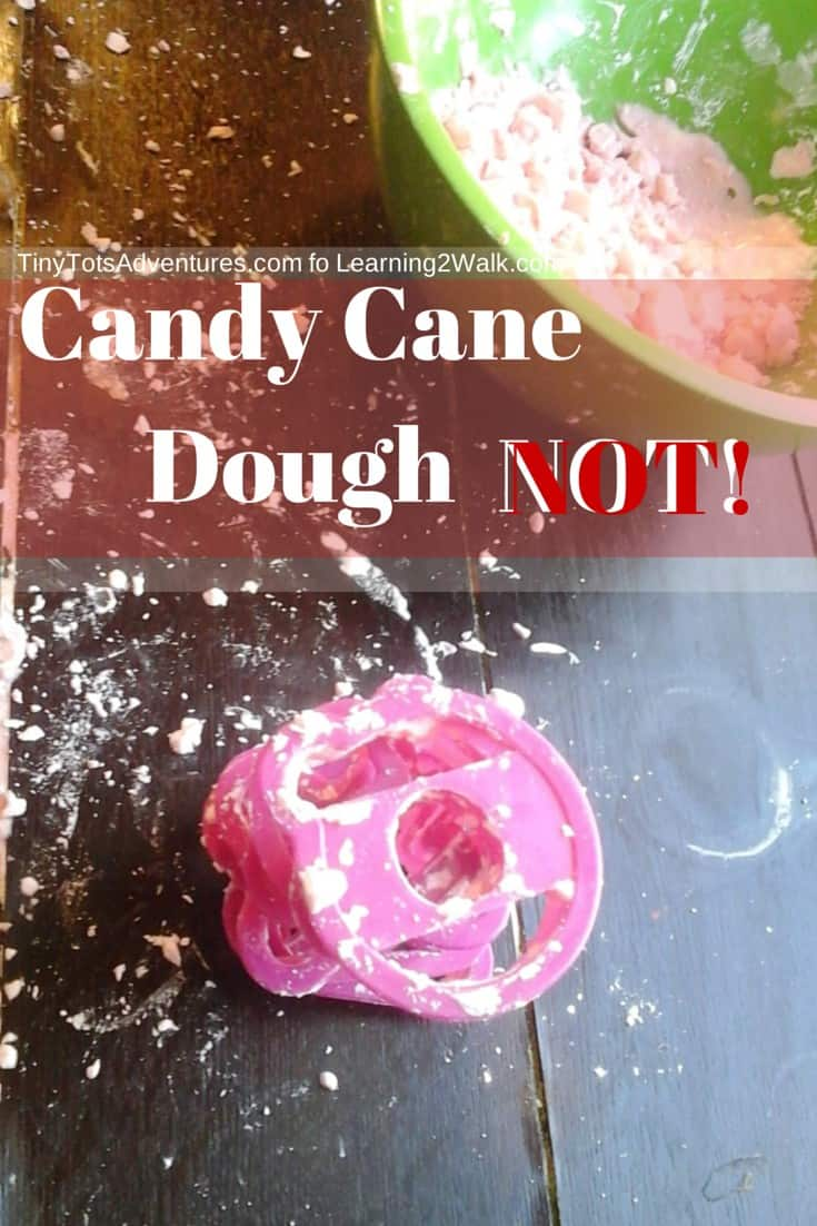 Preschool sensory Activities Candy cane Dough- NOT