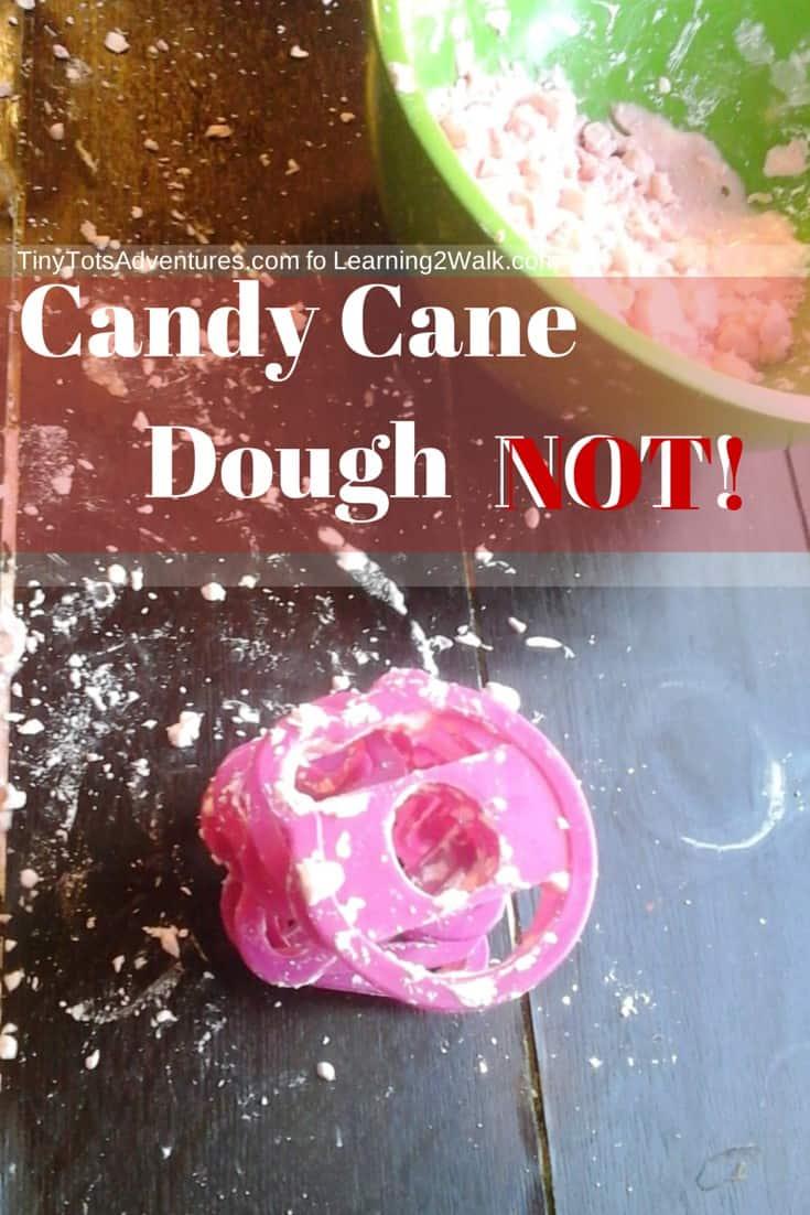 Preschool sensory Activities Candy cane Dough- NOT