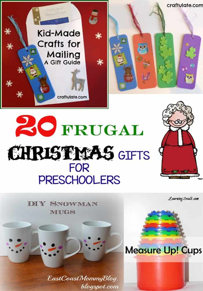 Frugal Gifts under 20 dollars for preschoolers