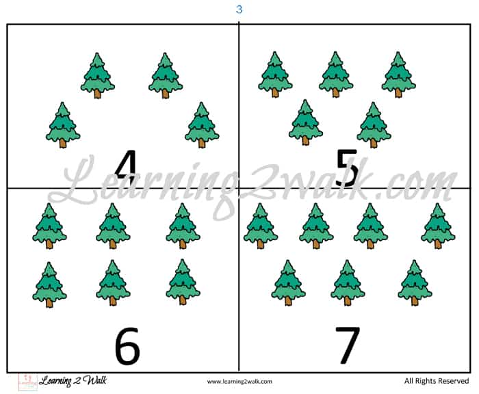 Pine Tree Parable Preschool Kit counting cards