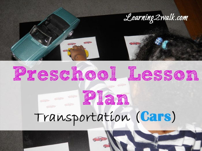 preschool lesson plan transportation (cars) math