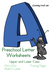 Preschool Letter Worksheets A