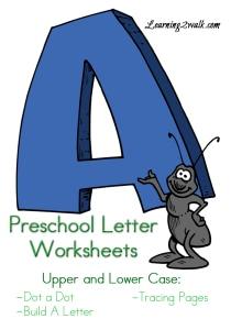 Preschool Letter Worksheets A