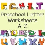 Looking for a few preschool letter worksheets to work on writing the letters of the alphabet? Each set has preschool activities that your kids will love and can also be used in the classroom