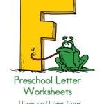 Preschool Letter Worksheets F