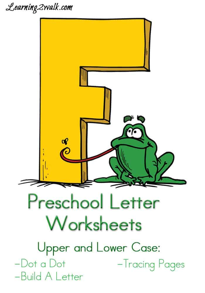 If you are looking for a few free preschool printables for the letter F, try these Preschool Letter Worksheets