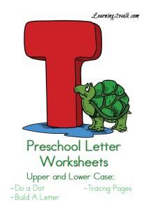 Preschool Letter Worksheets T