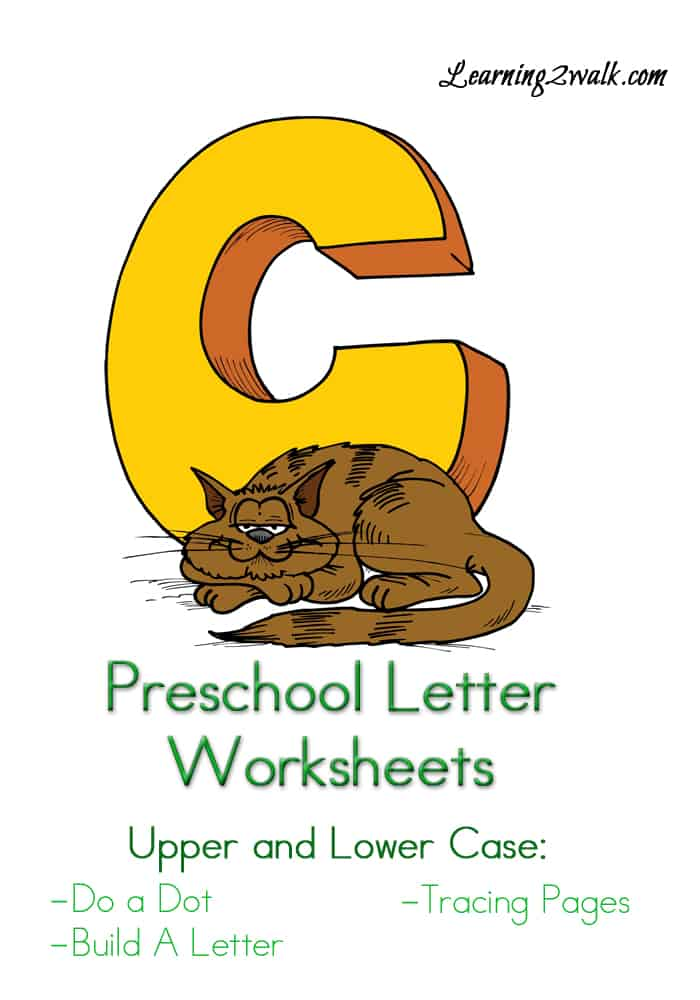 Preschool Letter Worksheets: C