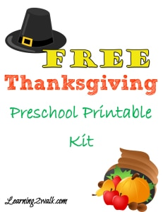 Thanksgiving Preschool Freebie