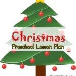 christmas preschool lesson plan