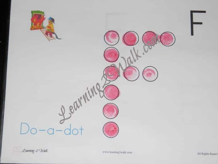preschool letter worksheets f do a dot