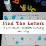 preschool sensory activities- find the letter