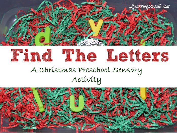 Looking for a few quick and easy alphabet ideas to keep your preschoolers busy? Try this Christmas alphabet activities find and match letter game.