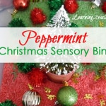 preschool sensory activities:our peppermint christmas sensory bin